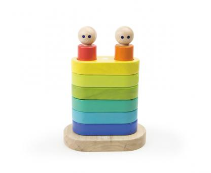 Tegu Baby Magnetic Stacker, Magnetisches Holzset, 11 Teile