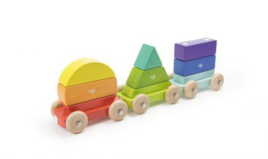 Tegu Baby Shape Train, Magnetisches Holzset, 9 Teile
