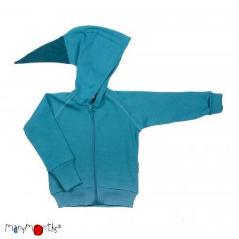 ManyMonths Kapuzenjacke (Hooded Zip Cardigan) - Royal Turquoise