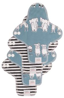Ella's House Moon Pads MINI, Stoffslipeinlage 4er - Zoo Friends LIMITED EDITION