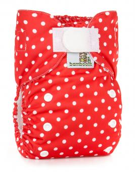 Bamboolik AIO mit Pocket, Stay dry - red dots