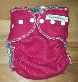 Responsible Mother Wollüberhose mit Snaps - M/L - raspberry / anthrazit